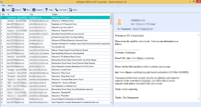 Preview Outlook Express Files